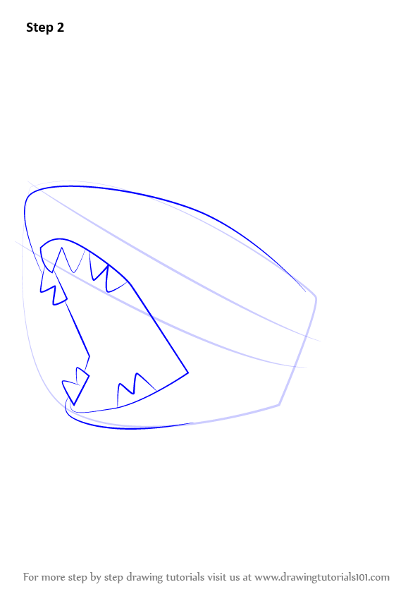 learn how to draw sharpedo from pokemon  pokemon  step by step   drawing tutorials