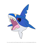 How to Draw Sharpedo from Pokemon