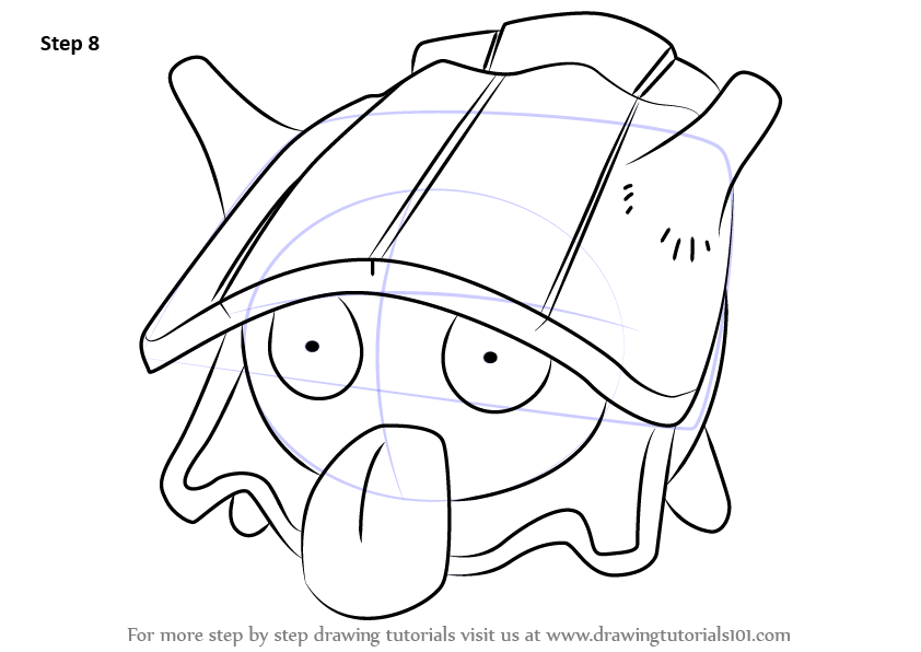 How To Draw Shellder From Pokemon Step By