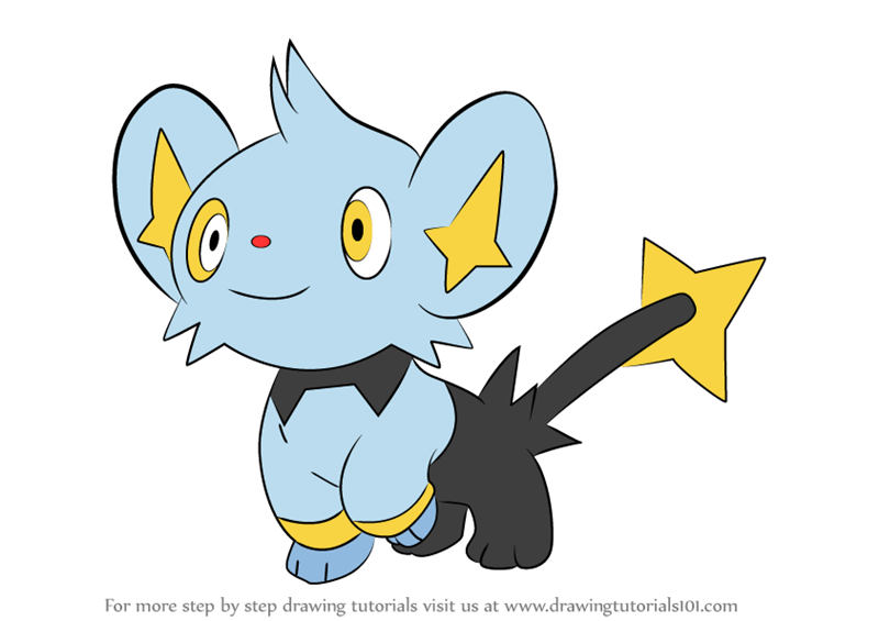 shinx coloring pages - learn how to draw shinx from pokemon pokemon step by