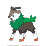 How to Draw Skiddo from Pokemon