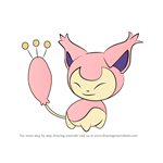 How to Draw Skitty from Pokemon