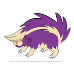 How to Draw Skuntank from Pokemon