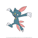 How to Draw Sneasel from Pokemon