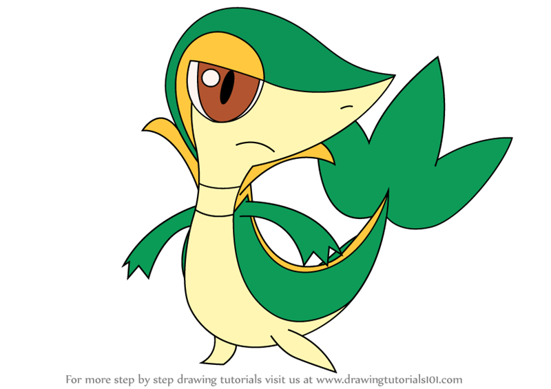 Learn How to Draw Snivy from Pokemon (Pokemon) Step by
