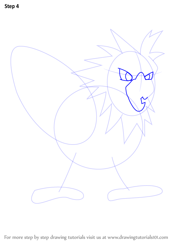 Learn How to Draw Spearow from Pokemon (Pokemon) Step by ...
