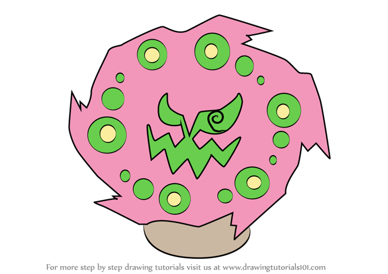 Learn How To Draw Spiritomb From Pokemon Pokemon Step By