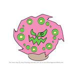 How to Draw Spiritomb from Pokemon