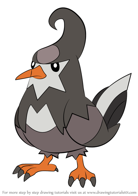 Learn How to Draw Staravia from Pokemon (Pokemon) Step by ...