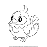 How to Draw Starly from Pokemon