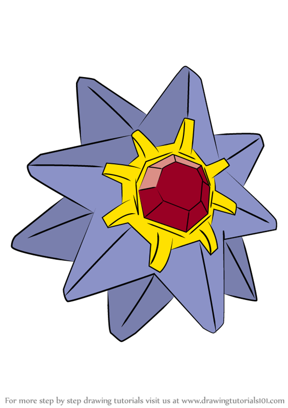 Learn How To Draw Starmie From Pokemon Pokemon Step By