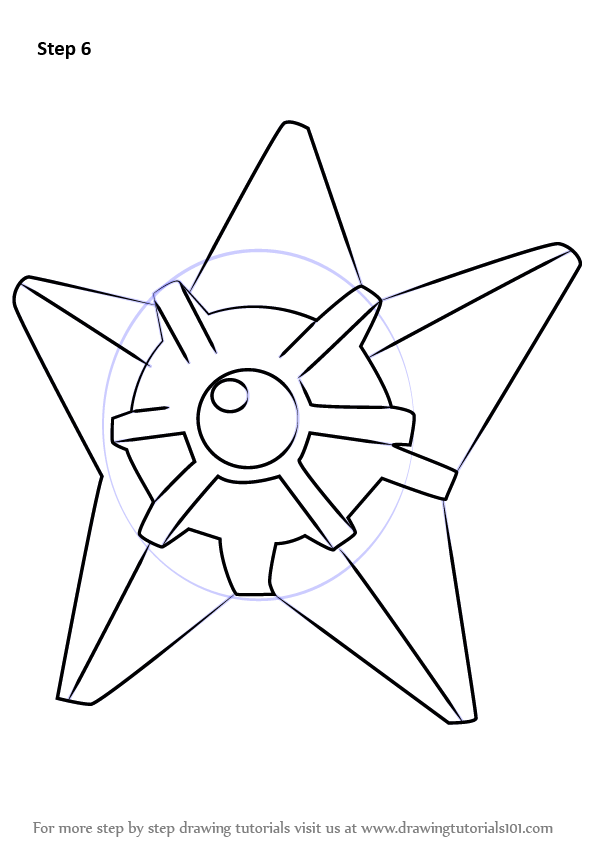 Learn How To Draw Staryu From Pokemon Pokemon Step By