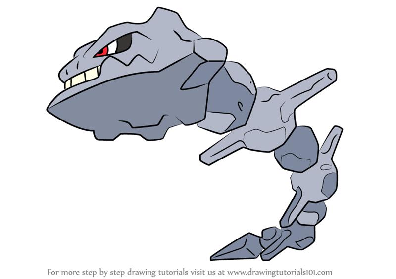 Pokemon Mega Steelix - Free Colouring Pages