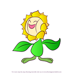 How to Draw Sunflora from Pokemon
