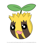 How to Draw Sunkern from Pokemon