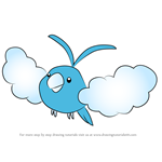 How to Draw Swablu from Pokemon