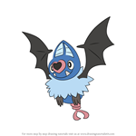 How to Draw Swoobat from Pokemon