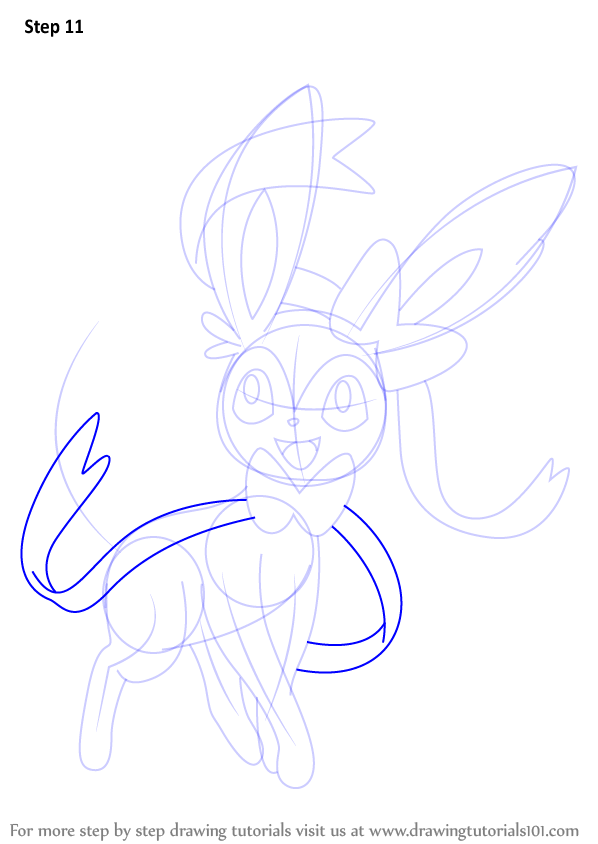 Learn how to draw sylveon from pokemon pokemon step by for How to make doodle art