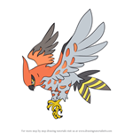 How to Draw Talonflame from Pokemon