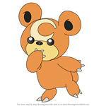 How to Draw Teddiursa from Pokemon
