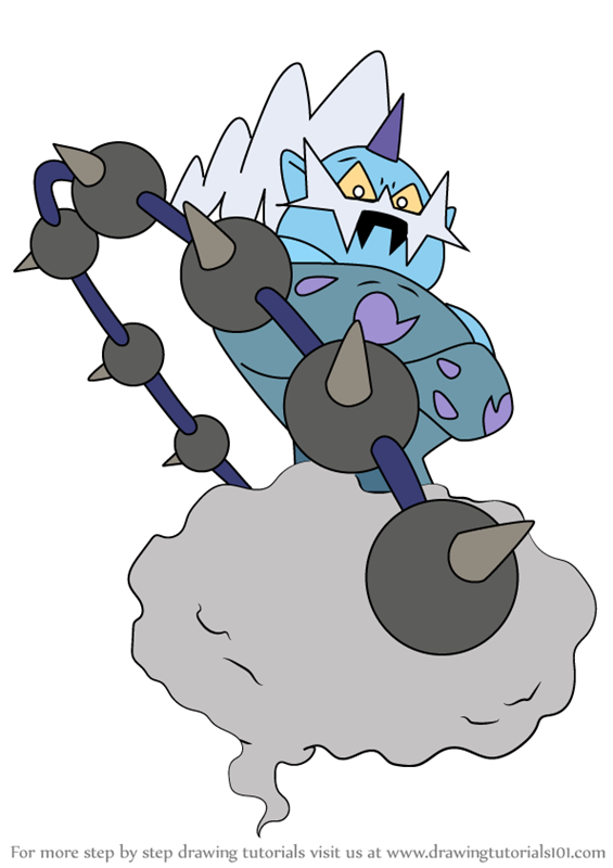 Learn How to Draw Thundurus from Pokemon Pokemon Step by