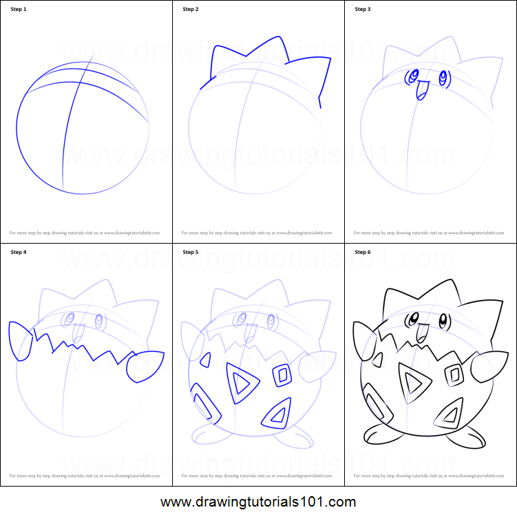 How to Draw Togepi from Pokemon printable step by step ...