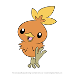 How to Draw Torchic from Pokemon