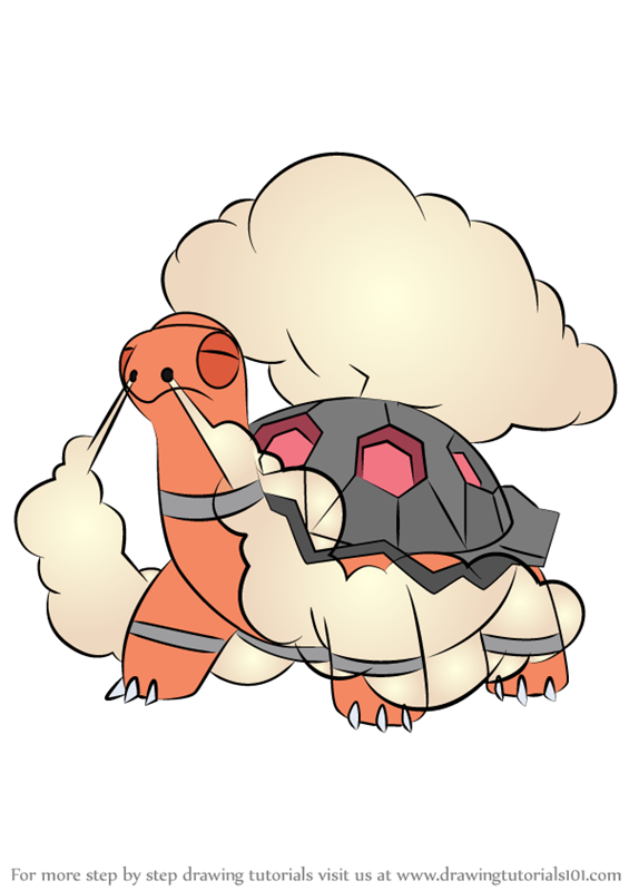 Learn How to Draw Torkoal from Pokemon (Pokemon) Step by