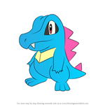 How to Draw Totodile from Pokemon