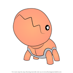 How to Draw Trapinch from Pokemon