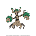 How to Draw Trevenant from Pokemon