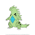 How to Draw Tyranitar from Pokemon
