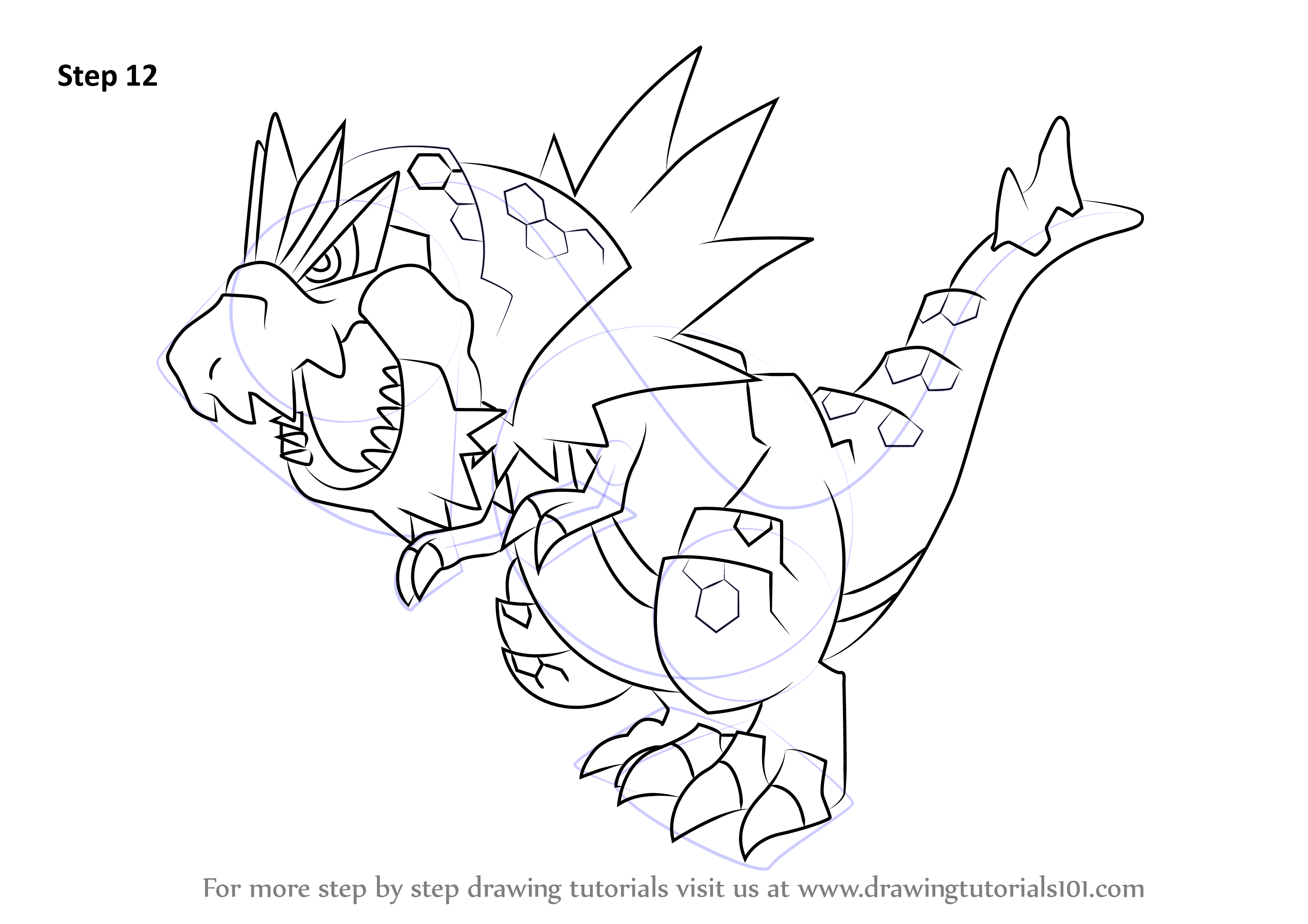 Learn How to Draw Tyrantrum from