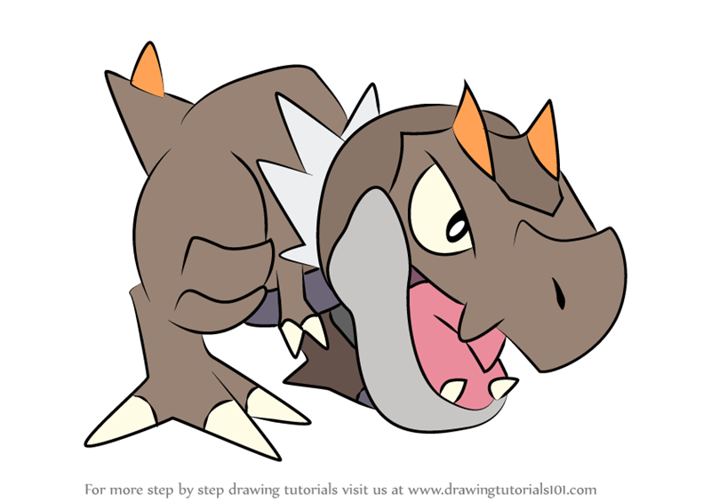 Dinosaur Type Pokemon Coloring Pages