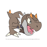 How to Draw Tyrunt from Pokemon