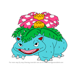 How to Draw Venusaur from Pokemon