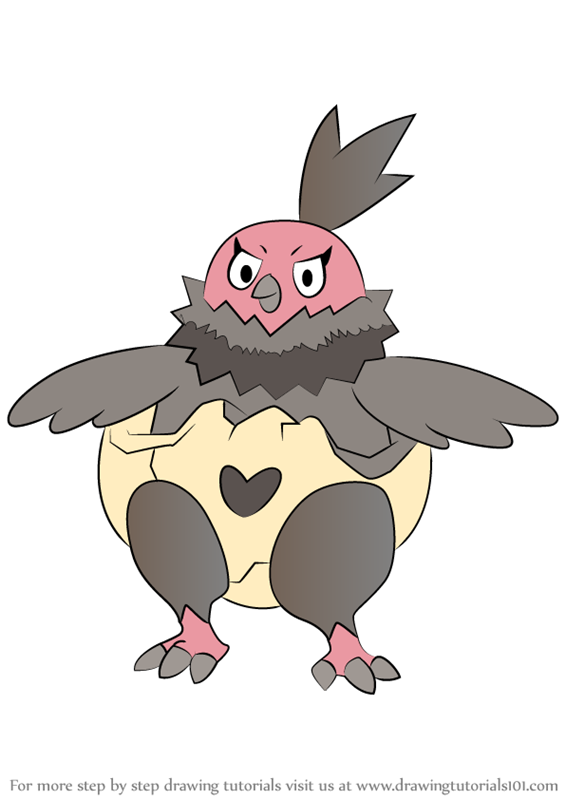Learn How To Draw Vullaby From Pokemon Step By Drawing Tutorials