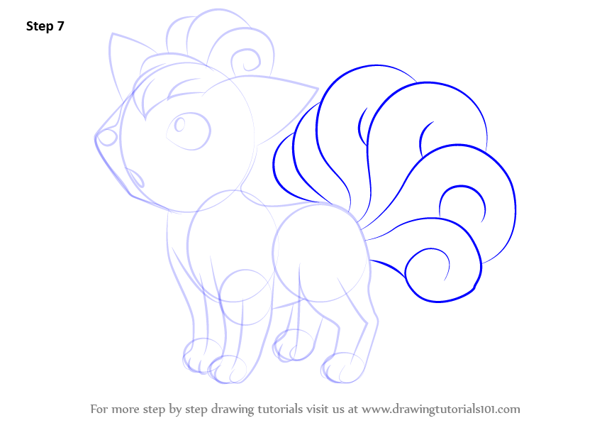 Learn How To Draw Vulpix From Pokemon Pokemon Step By