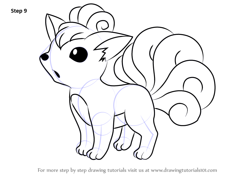 Learn How To Draw Vulpix From Pokemon Step By Drawing Tutorials