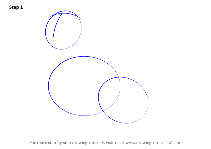 First Commence The Tutorial By Making Three Ovals Two Lines Inside Top Oval As Shown