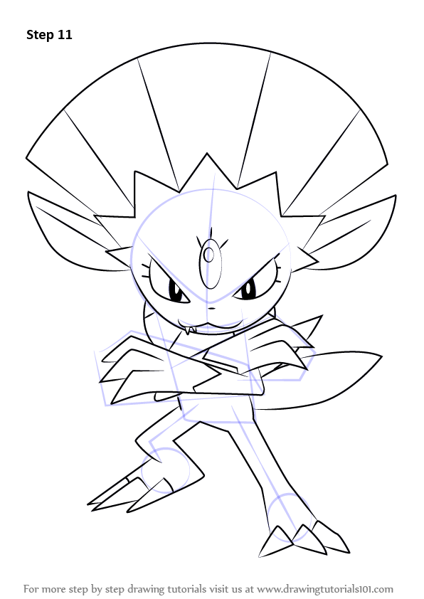 Learn How To Draw Weavile From Pokemon Pokemon Step By