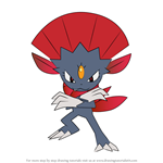 How to Draw Weavile from Pokemon