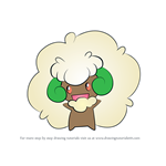 How to Draw Whimsicott from Pokemon