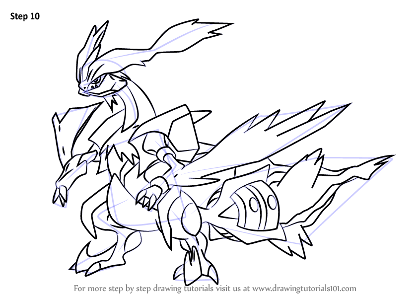 Learn How To Draw White Kyurem From Pokemon Pokemon Step