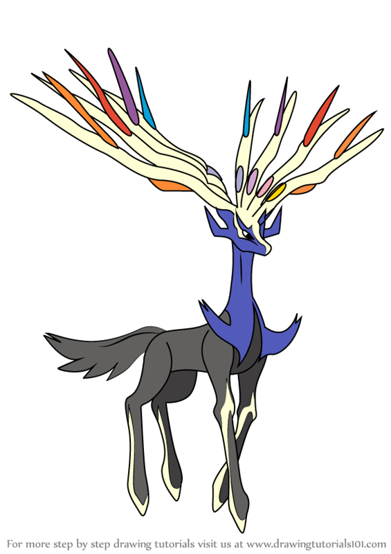 Pokemon Coloring Pages Xerneas : Learn how to draw xerneas from pokemon step by