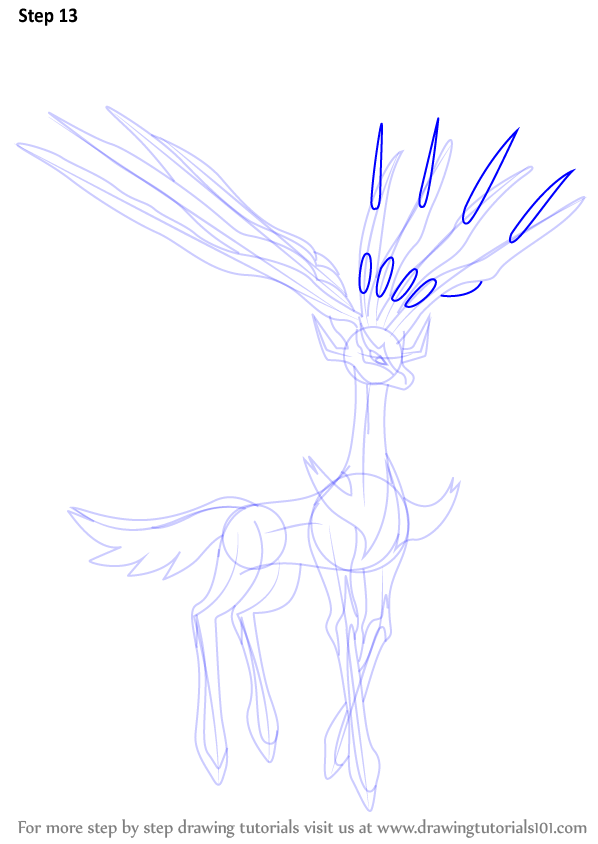 learn how to draw xerneas from pokemon  pokemon  step by step   drawing tutorials