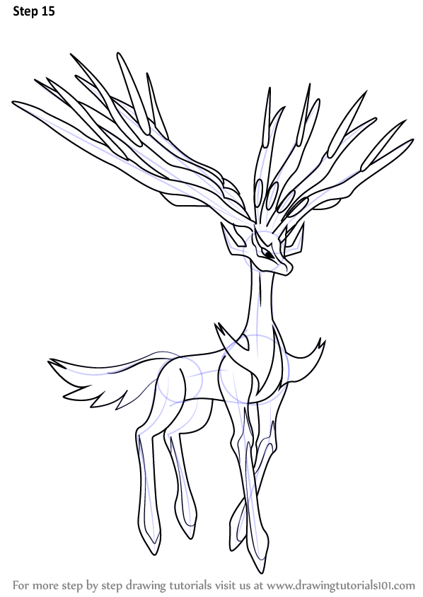 Step By Step How To Draw Xerneas From Pokemon