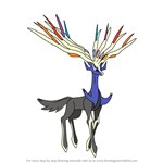 How to Draw Xerneas from Pokemon