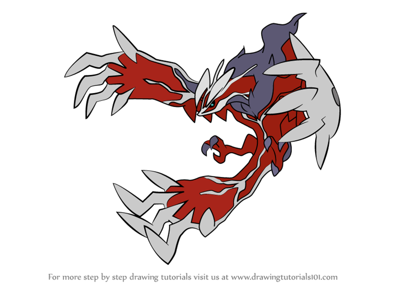 Learn How To Draw Yveltal From Pokemon Pokemon Step By