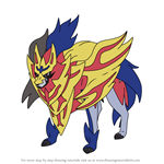 How to Draw Zamazenta from Pokemon
